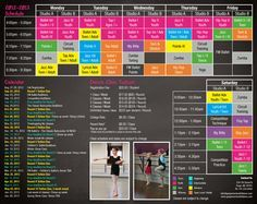 12 best dance studio stuff images on pinterest ballet dance dance studio brochure the brightly colored schedule is very appealing maxwellsz