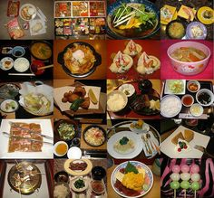 here's a collage of what I ate when I was back in my hometown! This looks delicious!