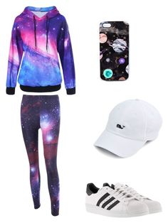 """galaxy style"" by marutza28 ❤ liked on Polyvore featuring Nikki Strange and adidas"