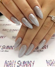 The nails is a very important part of girls beauty. in this post we show you 15 above Hot Almond Shaped Nails Colors To Get You Inspired To Try on your nails. Long White Nails, White Almond Nails, Almond Shape Nails, Snowflake Nail Design, Snowflake Nails, Nail Pictures, Super Nails, Red Nails, Black Nails