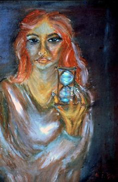 Hourglass by Daniela Isache | ArtWanted.com Expressionist Portraits, Portfolio Images, Hourglass, Original Paintings, Artist, Artwork, Woman, Contemporary Art, Work Of Art