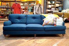 Winifred Blue Sofa at Anthropologie What a perfect sofa! Contemporary Sofa, Sofa Colors, Luxury Sofa, Modern Sofa, Sofa, Blue Sofa, Best Sofa, Sofa Inspiration, Sofa Deals