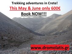 Special Offer! #trekking #crete #backpacking #adventure www.dromolatis.gr #hiking