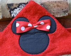 Mickey or Minnie Mouse Hooded Towel ONLY $20!!! Custom Order