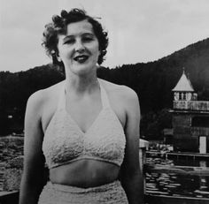 Eva Braun. This image was included in pages of Eva Braun's photo albums and cataloged as such when I viewed and photographed it in the National Archives.