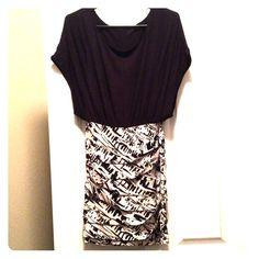 BCBGeneration black and white dress  BCBGeneration black and white dress, size XS beautiful condition BCBGeneration Dresses Mini