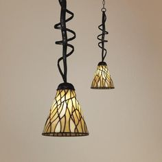 Screw In Stained Glass Pendant Light Possibility For Bar