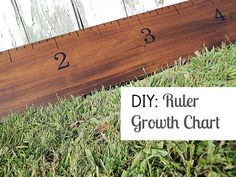 DIY Ruler Growth Chart & Vinegar Stain
