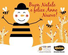 Da oltre 600 apicoltori e da milioni e milioni di operose api, Auguri di Buone Feste a tutti voi!  #api #apicoltura