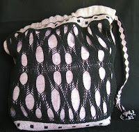 sprang doubleweave bag -- 2 beams - sprang layer requires room for take-up