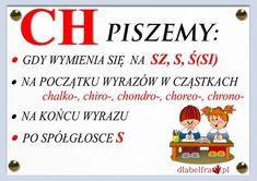 Plansze z zasadami ortograficznymi dla uczniów klas I-III | Dla Belfra Learn Polish, Polish To English, Aa School, Poland History, Polish Language, Our Kids, Teaching English, Study, Science