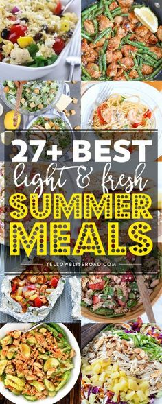 These family friendly recipes will have everyone excited about summer dinners, and they're perfect for dining al fresco, too! These family friendly recipes will have everyone excited about summer dinners, and they're perfect for dining al fresco, too! Light Summer Dinners, Easy Summer Meals, Healthy Summer Recipes, Summer Food, Light Meals For Dinner, Light Dinner Ideas, Summer Meal Ideas, Cold Dinner Ideas, Light And Easy Meals