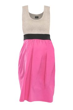Pink and Grey Lycra Combo Maternity Dress - AED420 from Blush and Bloom www.blushandbloom.com/shop/maternity-fashion/dresses/Pink-and-Grey-Lycra-Combo-Maternity-Dress/