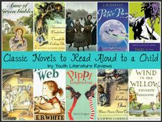 Classic Novels to read aloud with kids from Youth Literature Reviews.