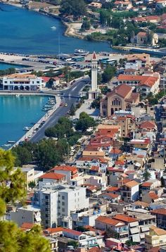 The town of Zakynthos Island, Greece