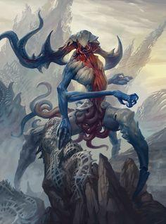 Répertoire Image Fantasy - Page 70 Monster Art, Monster Design, Fantasy Creatures, Mythical Creatures, Fantasy Kunst, Fantasy Art, Peter Mohrbacher, Lovecraftian Horror, Beast Creature