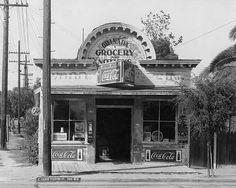 Vintage Granada Grocery and Notions, Santa Barbara, CA Coca Cola, Santa Barbara County, California History, Store Windows, Old Buildings, Vintage Santas, Vintage Country, Pacific Ocean, Ideas