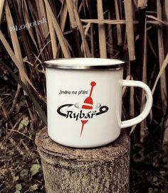 Plecháček pro rybáře SPLÁVEK jméno na přání Mugs, Tableware, Dinnerware, Tumblers, Tablewares, Mug, Dishes, Place Settings, Cups
