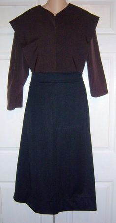 "Amish Handmade Dress Matching Cape & Apron 38"" Bust / 34"" Waist Lancaster, Pa."