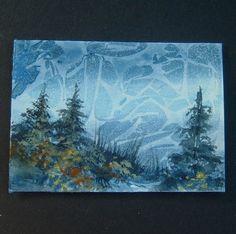 watercolour landscape aceo art painting ref 383 £6.00