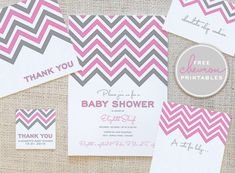 Chevron free printable. Might have to have a party just to use these!