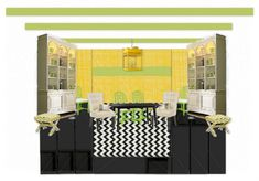 Stripe Challenge - Based on Tobi Fairley's Instant Room for House Beautiful Get In The Mood, Beautiful Homes, House Beautiful, Slipcovers, Challenges, Design Boards, Concept, Interior Design, Wallpaper