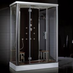 Ariel Bath Platinum DZ956F8 Black Steam Shower