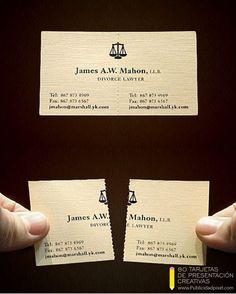 diseños de tarjetas de presentacion creativas para abogados