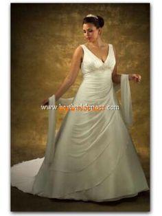 Plus Size Ruched Ivory Chiffon Elegant Wedding Dresses Inexpensive Wedding  Gown 2013 Wedding Dress Gallery 7f089c8eac41