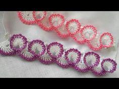 Crochet Edging Patterns, Crochet Borders, Weaving Patterns, Crochet Squares, Crochet Designs, Stitch Patterns, Thread Crochet, Crochet Doilies, Flower Embroidery Designs