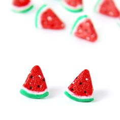 Your place to buy and sell all things handmade Watermelon Slices, Bite Size, Make You Smile, Strawberry, Make It Yourself, Fruit, How To Make, Handmade, Stuff To Buy
