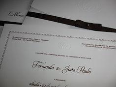 Marie Papiers  |  Convites Exclusivos: Convite detalhe em pespontos...