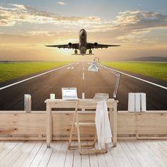 Vliestapete Premium - Startendes Flugzeug - Fototapete Breit