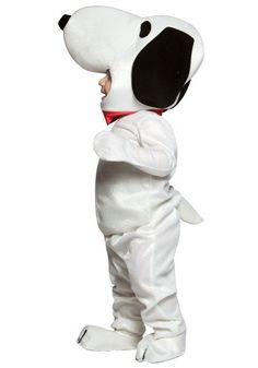 This toddler Snoopy costume also comes in infant and child sizes for Halloween. This Peanuts character costume goes great with a Charlie Brown group costume.