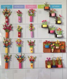 Miniature paper flower creations
