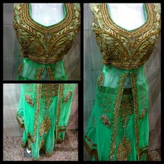 Party Wear Embroidered Green Lehenga Call or WhatsApp for Price : 9868209221