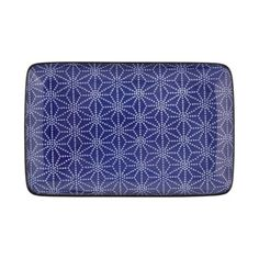Tokyo Design Studio - Nippon Blue Rectangular Plate - Star Tokyo Design, Serving Platters, Plates, Stars, Studio, Blue, Licence Plates, Serving Plates, Dishes