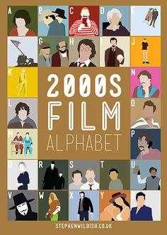2000's film alphabet!  Can you name them all?