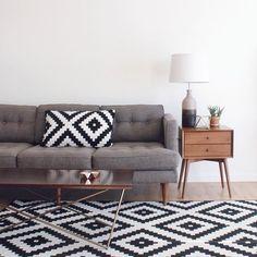Clean living room Peggy Sofa    West Elm