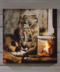 Look what I found on #zulily! Jars & Notions Canvas #zulilyfinds