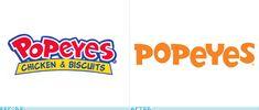 Popeyes logo evolution