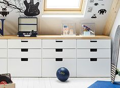 STUVA storage unit with drawers