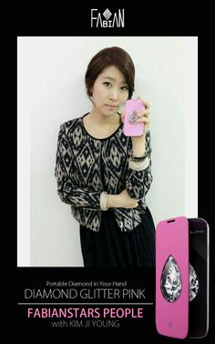 FABIANSTARS PEOPLE with KIM JI YOUNG  Diamond Glitter Pear Pink