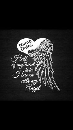 Angel Heart Wings In Memory of Personalize Vinyl Decal Car Dream Tattoos, Future Tattoos, Love Tattoos, Sexy Tattoos, Body Art Tattoos, Tattoos For Women, Tatoos, Tribal Dragon, Tribal Arm