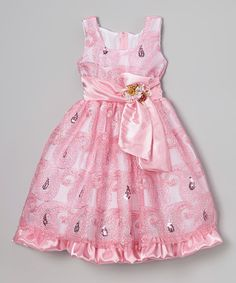 Another great find on #zulily! Pink Sequin Swirl Babydoll Dress - Infant, Toddler & Girls by Kid Fashion #zulilyfinds