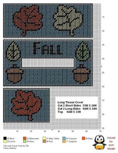FALL LONG TISSUE BOX COVER by TDL                                                                                                                                                     More