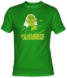 """Camiseta de la parodia del maestro Yoda en la película de Mel Brooks """"La loca historia de las galaxias""""."""
