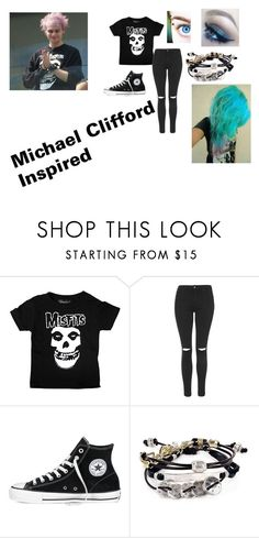 """Outfit #28"" by blueeyedbaby7 ❤ liked on Polyvore featuring Topshop, Converse and Robert Lee Morris"