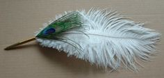 peacock pen for guest book