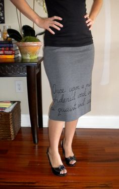Vintage wool Edgar Allan Poe Raven Skirt womens small / medium $35